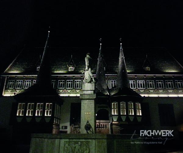 Microfasertuch - Rathaus bei Nacht